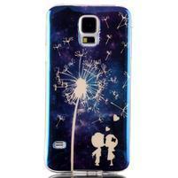 Blu-ray gelový obal s odlesky na Samsung Galaxy S5 - láska