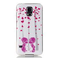 Rich gelový obal na Samsung Galaxy S5 - láska