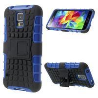 Outdoor odolný kryt na mobil Samsung Galaxy S5 - modrý