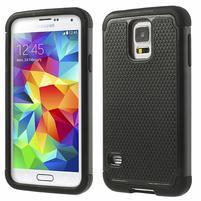 Odolný obal 2v1 na mobil Samsung Galaxy S5 - černý