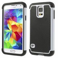 Odolný obal 2v1 na mobil Samsung Galaxy S5 - bílý