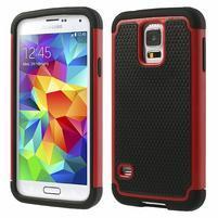 Odolný obal 2v1 na mobil Samsung Galaxy S5 - červený
