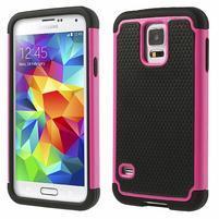 Odolný obal 2v1 na mobil Samsung Galaxy S5 - rose