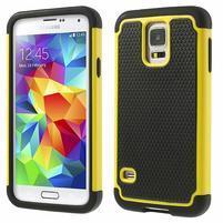 Odolný obal 2v1 na mobil Samsung Galaxy S5 - žlutý
