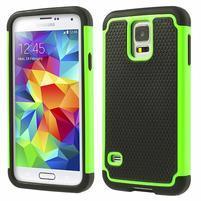Odolný obal 2v1 na mobil Samsung Galaxy S5 - zelený