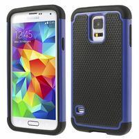 Odolný obal 2v1 na mobil Samsung Galaxy S5 - modrý