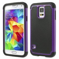 Odolný obal 2v1 na mobil Samsung Galaxy S5 - fialový