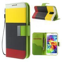 Colory PU kožené pouzdro na mobil Samsung Galaxy S5 - variant II