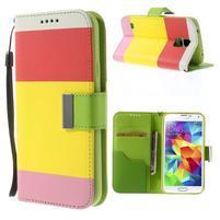 Colory PU kožené pouzdro na mobil Samsung Galaxy S5 - variant I