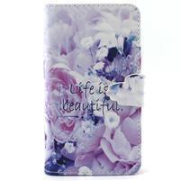 Peněženkové pouzdro na mobil Samsung Galaxy S5 mini -  květiny