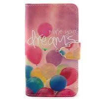 Peněženkové pouzdro na mobil Samsung Galaxy S5 mini - balónky