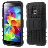Outdoor odolný obal na mobil Samsung Galaxy S5 mini - černý