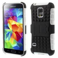 Outdoor odolný obal na mobil Samsung Galaxy S5 mini - bílý