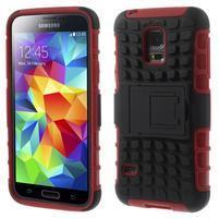 Outdoor odolný obal na mobil Samsung Galaxy S5 mini - červený