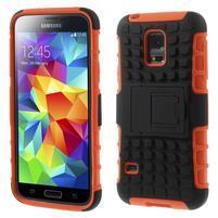 Outdoor odolný obal na mobil Samsung Galaxy S5 mini - oranžový