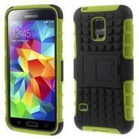 Outdoor odolný obal na mobil Samsung Galaxy S5 mini - zelený
