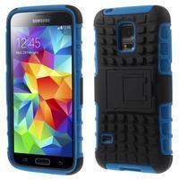 Outdoor odolný obal na mobil Samsung Galaxy S5 mini - modrý