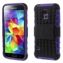 Outdoor odolný obal na mobil Samsung Galaxy S5 mini - fialový