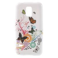 Softy gelový obal na Samsung Galaxy S5 mini - magičtí motýlci