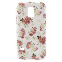 Softy gelový obal na Samsung Galaxy S5 mini - květinová koláž