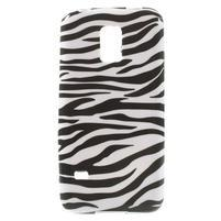 Softy gelový obal na Samsung Galaxy S5 mini - zebra