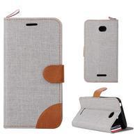 Jeans pouzdro na mobil Sony Xperia E4 - šedé