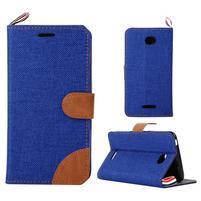 Jeans pouzdro na mobil Sony Xperia E4 - modré