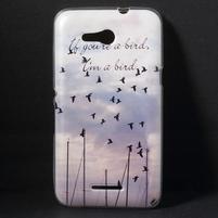 Gelový obal na Sony Xperia E4g - létající ptáčci