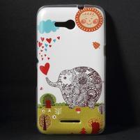 Gelový obal na Sony Xperia E4g - zamilovaný slon