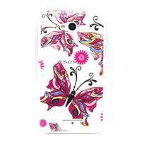 Vzorový gelový obal na Sony Xperia E4g - motýl