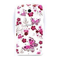 Vzorový gelový obal na Sony Xperia E4g - motýlci