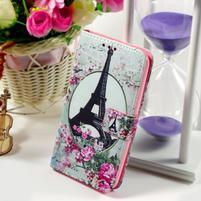 Peněženkové pouzdro na Sony Xperia E4g - Eiffelova věž