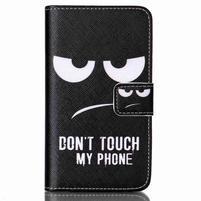 Emotive knížkové pouzdro na Sony Xperia E4g - nedotýkat se