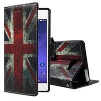 Standy peněženkové pouzdro Sony Xperia M2 Aqua - UK vlajka