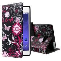 Standy peněženkové pouzdro Sony Xperia M2 Aqua - kouzelní motýlci