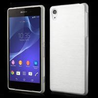 Broušený gelový obal na Sony Xperia Z2 - bílý