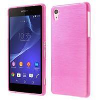 Broušený gelový obal na Sony Xperia Z2 - rose