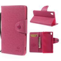 Rose peněženkové pouzdro na Sony Xperia Z3