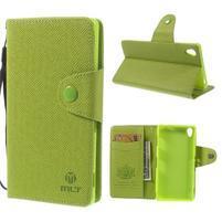 Zelené peněženkové pouzdro na Sony Xperia Z3