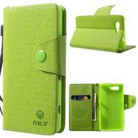 Zelené peněženkové pouzdro na Sony Xperia Z3 Compact