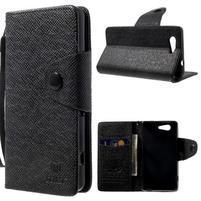 Černé peněženkové pouzdro na Sony Xperia Z3 Compact