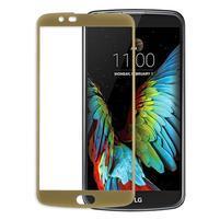 Celoplošné fixační tvrzené sklo na displej LG K10 - zlaté