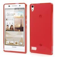 Gelové pouzdro na Huawei Ascend P6 - červené