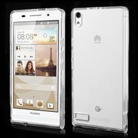 Gelové pouzdro na Huawei Ascend P6 - transparentní