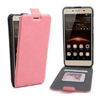 Flipové PU kožené pouzdro na Huawei Y5 II - růžové