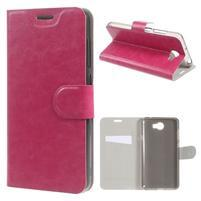 Horse PU kožené pouzdro na mobil Huawei Y5 II - rose