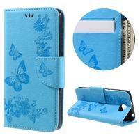Butterfly PU kožené pouzdro na mobil Huawei Y5 II - světlemodré