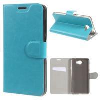 Horse PU kožené pouzdro na mobil Huawei Y5 II - modré