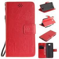 Dandelion PU kožené pouzdro na Huawei Y5 II - červené