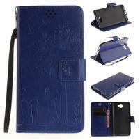 Dandelion PU kožené pouzdro na Huawei Y5 II - modré